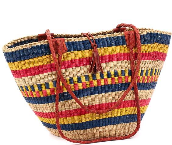 Handbag Bolga Basket